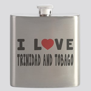I Love Trinidad And Tobago Flask