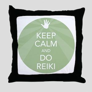 SHIRT KEEP CALM GREEN Throw Pillow