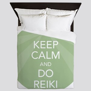SHIRT KEEP CALM GREEN Queen Duvet