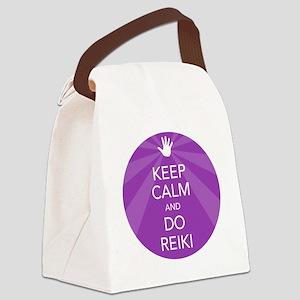 SHIRT KEEP CALM PURPLE Canvas Lunch Bag