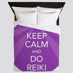 SHIRT KEEP CALM PURPLE Queen Duvet
