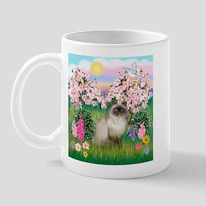 Blossoms & Himalayan cat Mug