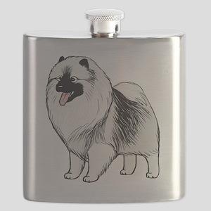 keeshondblackshirt Flask