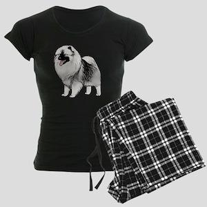 keeshondblackshirt Women's Dark Pajamas