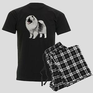 keeshondblackshirt Men's Dark Pajamas