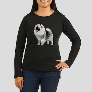 keeshondblackshir Women's Long Sleeve Dark T-Shirt