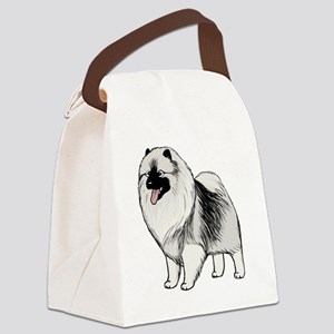 keeshondblackshirt Canvas Lunch Bag