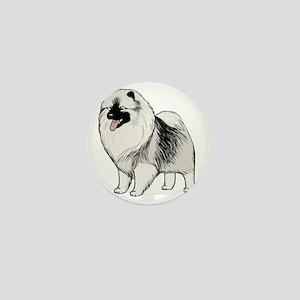 keeshondblackshirt Mini Button
