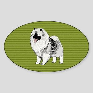 keeshondclutch Sticker (Oval)