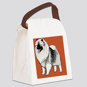 keeshondtoiletry Canvas Lunch Bag