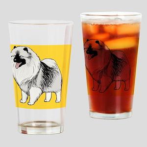 keeshondcoinpurse Drinking Glass