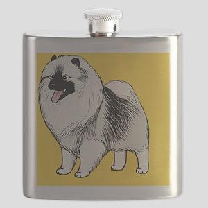 keeshondcoinpurse Flask