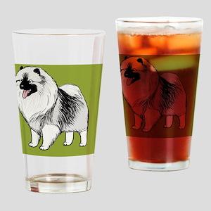 keeshondkindle Drinking Glass
