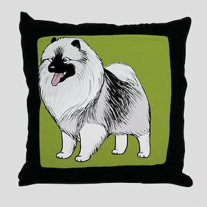 keeshondkindle Throw Pillow
