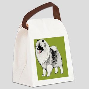 keeshondipad Canvas Lunch Bag