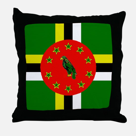 The Commonwealth of Dominica Throw Pillow