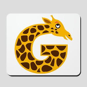 G is for Giraffe Mousepad
