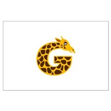 G is for Giraffe Large Poster