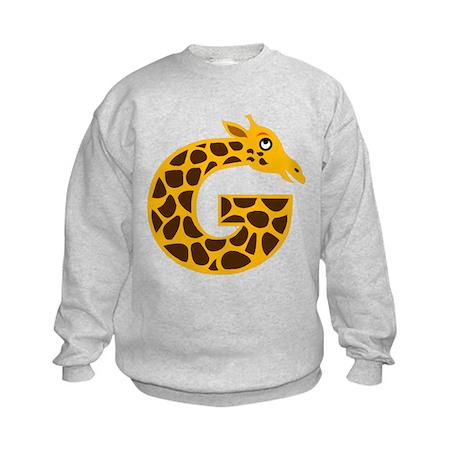 G is for Giraffe Kids Sweatshirt