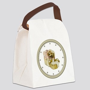 CLOCK Mrs, Tiggle-Winkle Silver S Canvas Lunch Bag