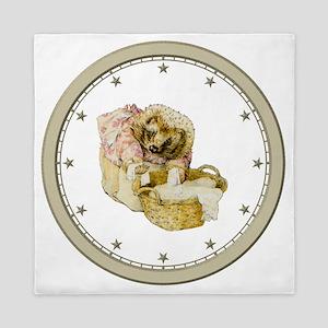 CLOCK Mrs, Tiggle-Winkle Silver Star Queen Duvet
