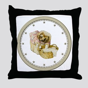 CLOCK Mrs, Tiggle-Winkle Silver Star Throw Pillow