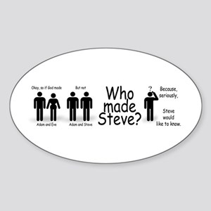 Who Made Steve Sticker (Oval)
