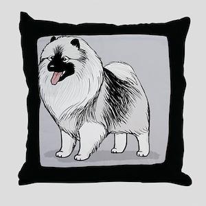 keeshondskin Throw Pillow