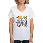 Beautiful Butterflies Women's V-Neck T-Shirt