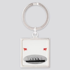 TG2 GhostTransWhite12x12USETHIS Square Keychain