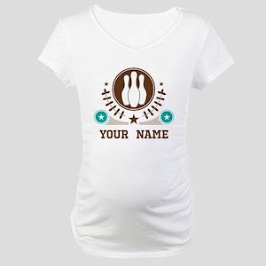 Personalized Bowling Maternity T-Shirt
