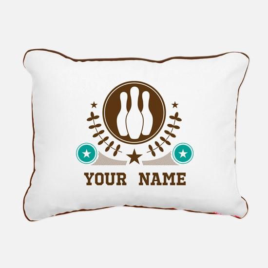 Personalized Bowling Rectangular Canvas Pillow