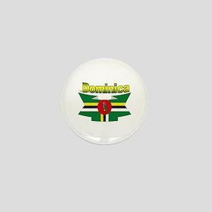 Dominica republic flag ribbon Mini Button