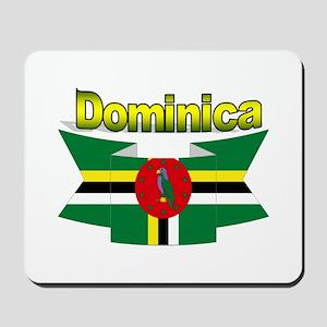 Dominica republic flag ribbon Mousepad