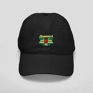 Dominica republic flag ribbon Black Cap