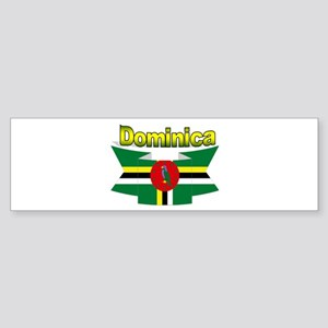 Dominica republic flag ribbon Bumper Sticker