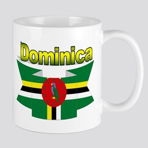 Dominica republic flag ribbon Mug