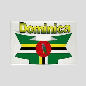 Dominica republic flag ribbon Rectangle Magnet