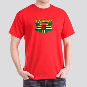Dominica republic flag ribbon Dark T-Shirt