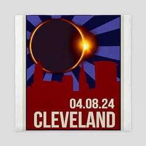 2024 Cleveland Total Solar Eclipse Queen Duvet