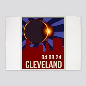 2024 Cleveland Total Solar Eclipse 5'x7'Area Rug