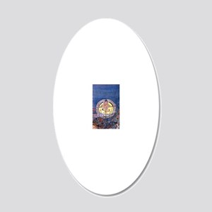Mackintosh Harvest Moon 20x12 Oval Wall Decal