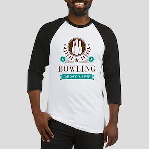 Bowling Is My Life Baseball Jersey
