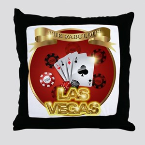 1 Gambling Vegas Throw Pillow