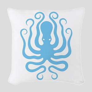 Octapus 1 Big Woven Throw Pillow