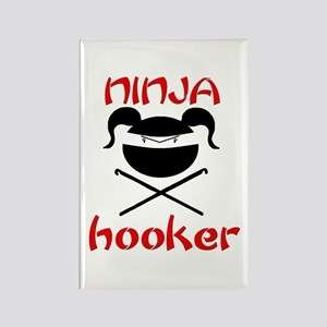 ninja hooker (crochet) Rectangle Magnet