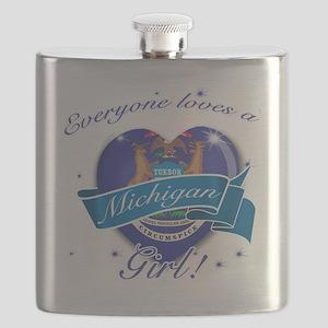 michigan. girl  Flask