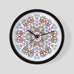 peace love hope Wall Clock