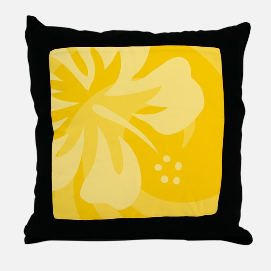 Yellow-King Throw Pillow