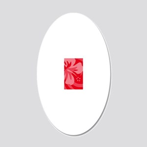 Red-Twin 20x12 Oval Wall Decal